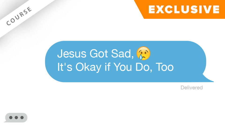 Jesus Got Sad, It's Okay if You Do, Too