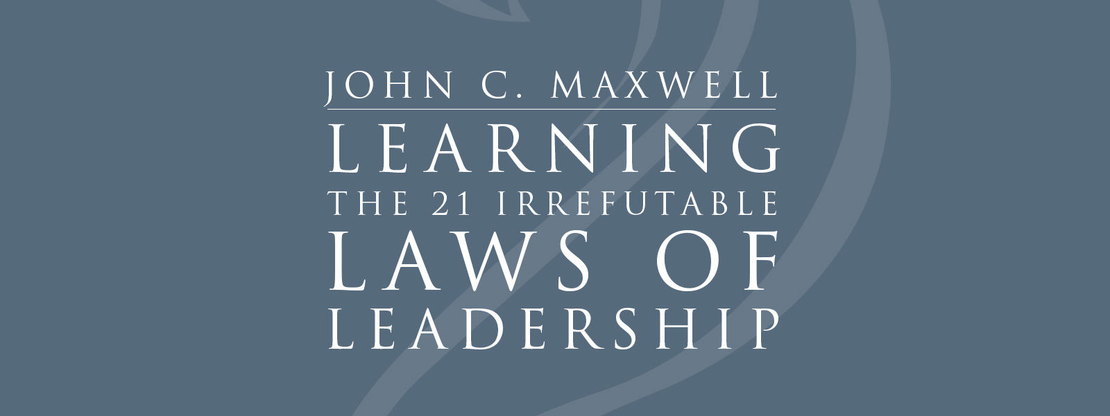 21 irrefrutable laws of leadership The 21 irrefutable laws of leadership: follow them and people will follow you  is a 1998 book written by john c maxwell and published by thomas nelson.