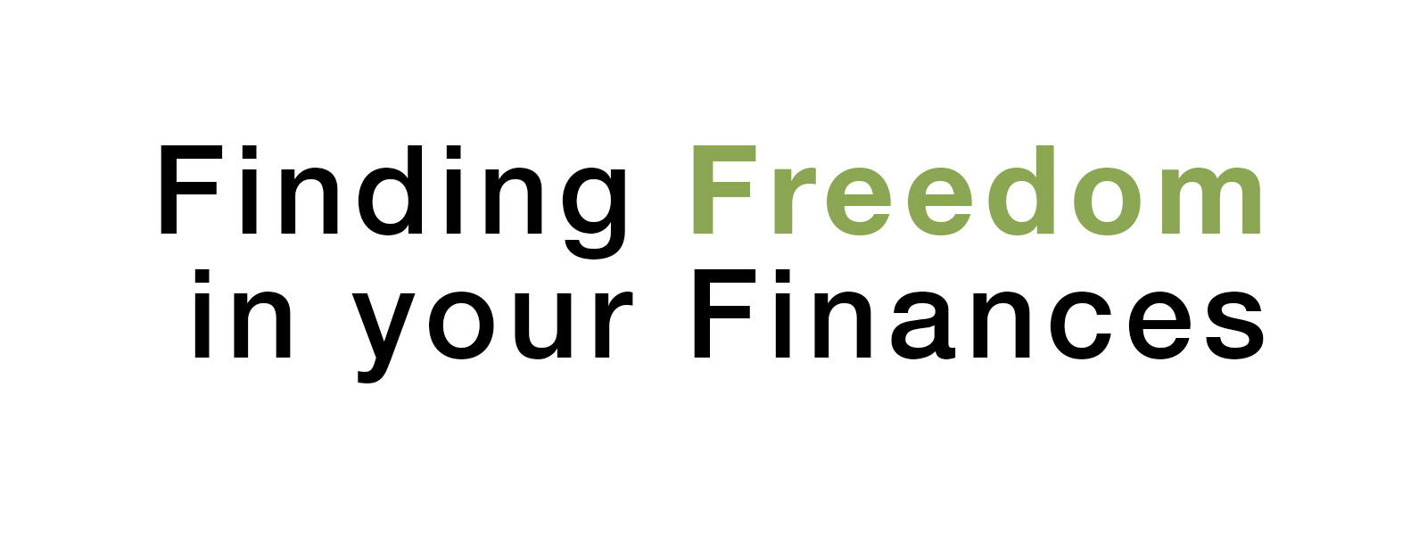 Finding Freedom in Your Finances