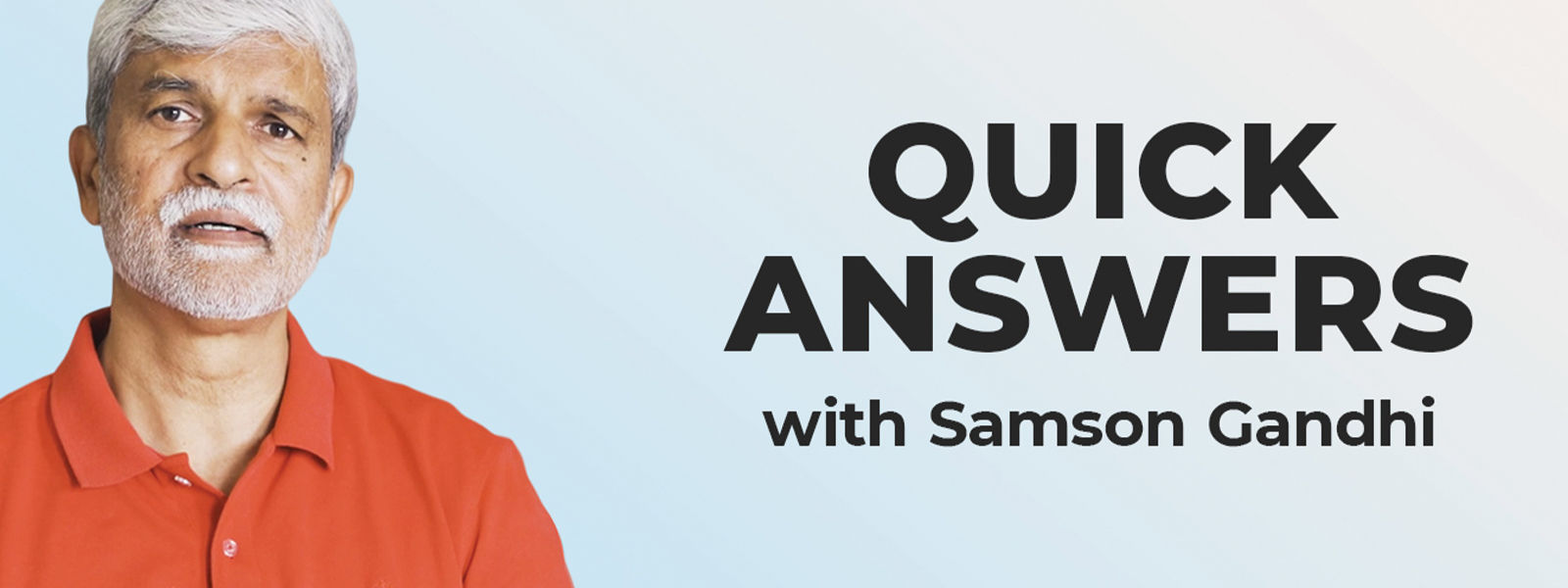 Quick Answers about Depression with Samson Gandhi