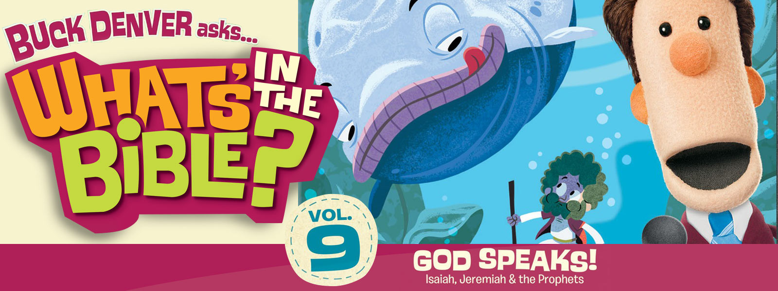 RightNow Media :: Streaming Video Bible Study : What's In The Bible? Vol. 9  God Speaks! : Phil Vischer : Jellyfish Labs